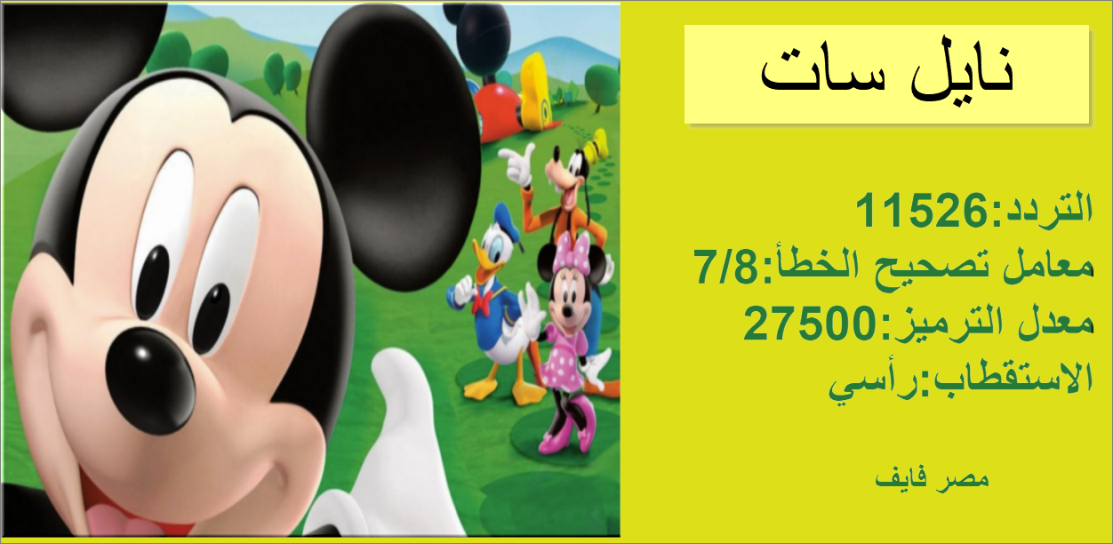 The frequency of the new Mickey Kids channel 2021 for children