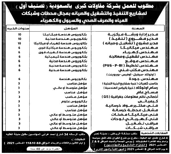 وظائف الأهرام الجمعة 30/7/2021.. جريدة الاهرام المصرية وظائف خالية 3