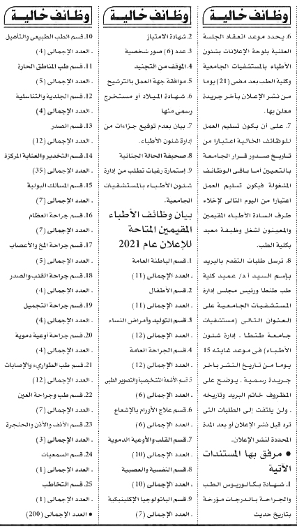 وظائف الأهرام الجمعة 30/7/2021.. جريدة الاهرام المصرية وظائف خالية 5