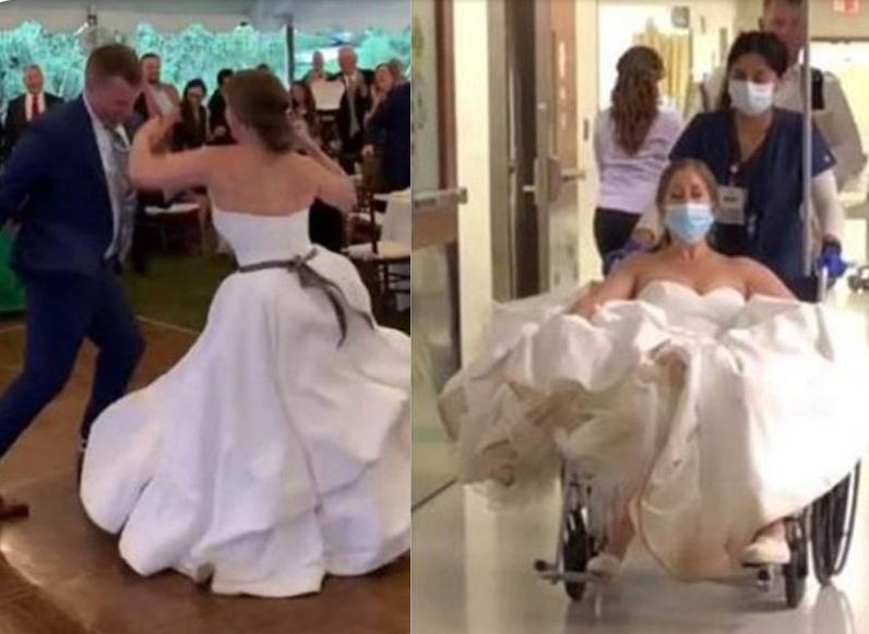 العروسة جولي.. عروسة تقضي ليلة زفافها في المستشفي ورد فعل العريس بعد إصابة العروسة 3