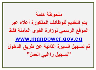 آلاف الوظائف المعلنة بنشرة وزارة القوى العاملة والهجرة لشهري يوليو وأغسطس 2021 7