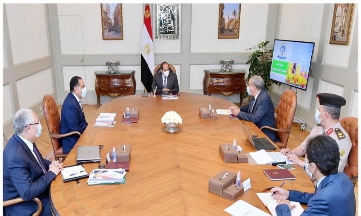 الرئيس السيسي يتابع الموقف مع الحكومة بالنسبة لمخزون السلع الاستراتيجية