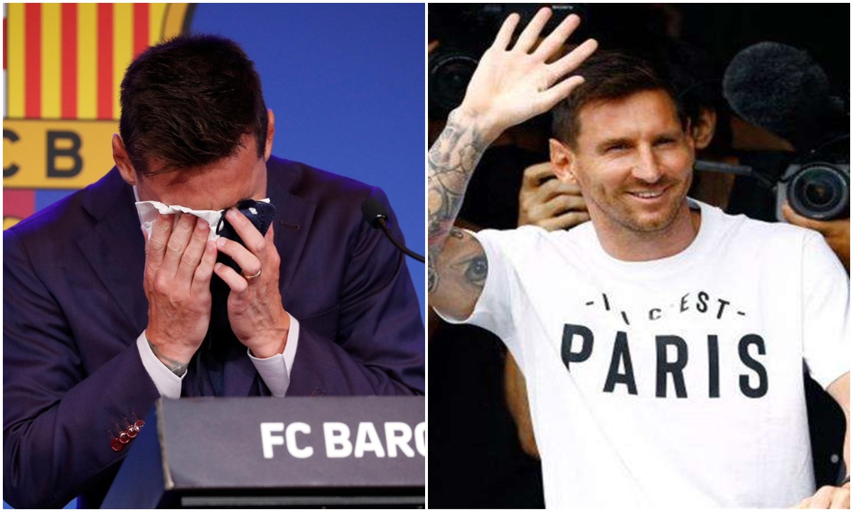 ميسي يفسر سبب تناقضه بين الدموع في برشلونة والضحك في باريس