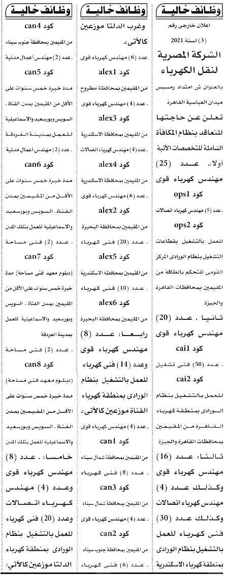 وظائف الأهرام الجمعة 10/9/2021.. جريدة الاهرام المصرية وظائف خالية 4