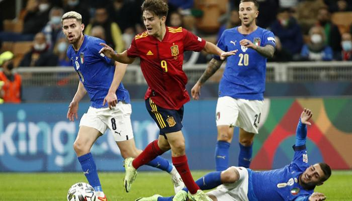نتيجة مباراة إيطاليا وإسبانيا