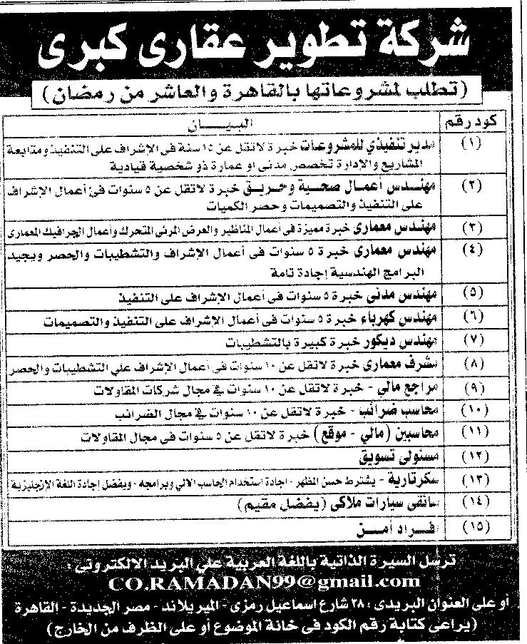 وظائف الأهرام الجمعة 22/10/2021.. جريدة الاهرام المصرية وظائف خالية 2