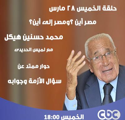 لقاء محمد حسنين هيكل مع لميس الحديدى 28/3/2013