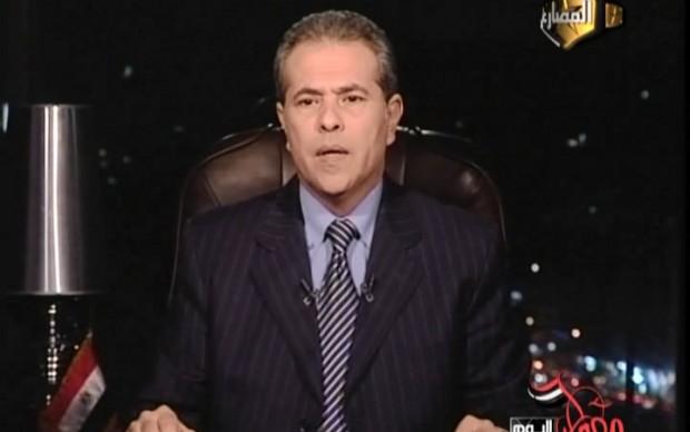 حلقة برنامج توفيق عكاشة على قناة المصارع 14/2/2013