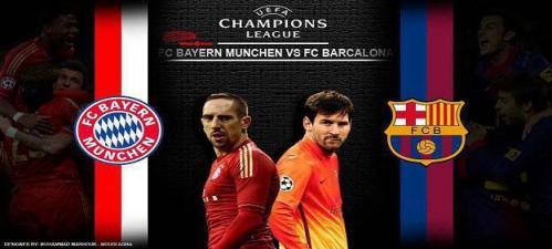 موعد مباراه برشلونه وبايرن ميونيخ مباراه الاياب اليوم 1-5-2013 فى دورى ابطال اوروبا FC Barcelona vs Bayern Munich