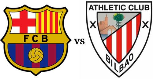 موعد مباراة برشلونة واتليتك بلباو والقنوات الناقلة السبت 27-4-2013