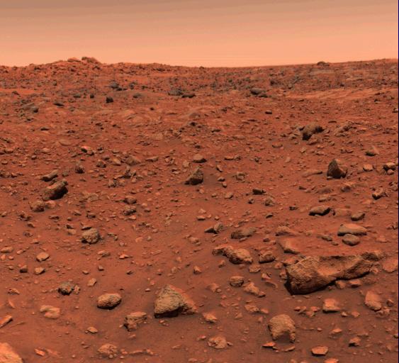 شاهد كوكب المريخ وكأنك عليه